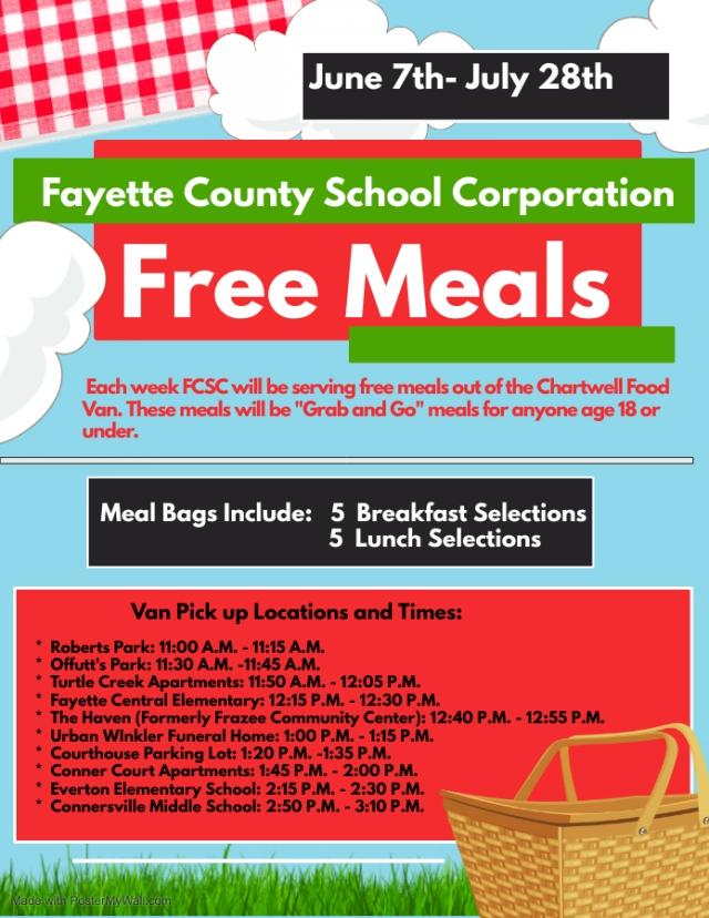 Fayette County Summer Meal Program 2021